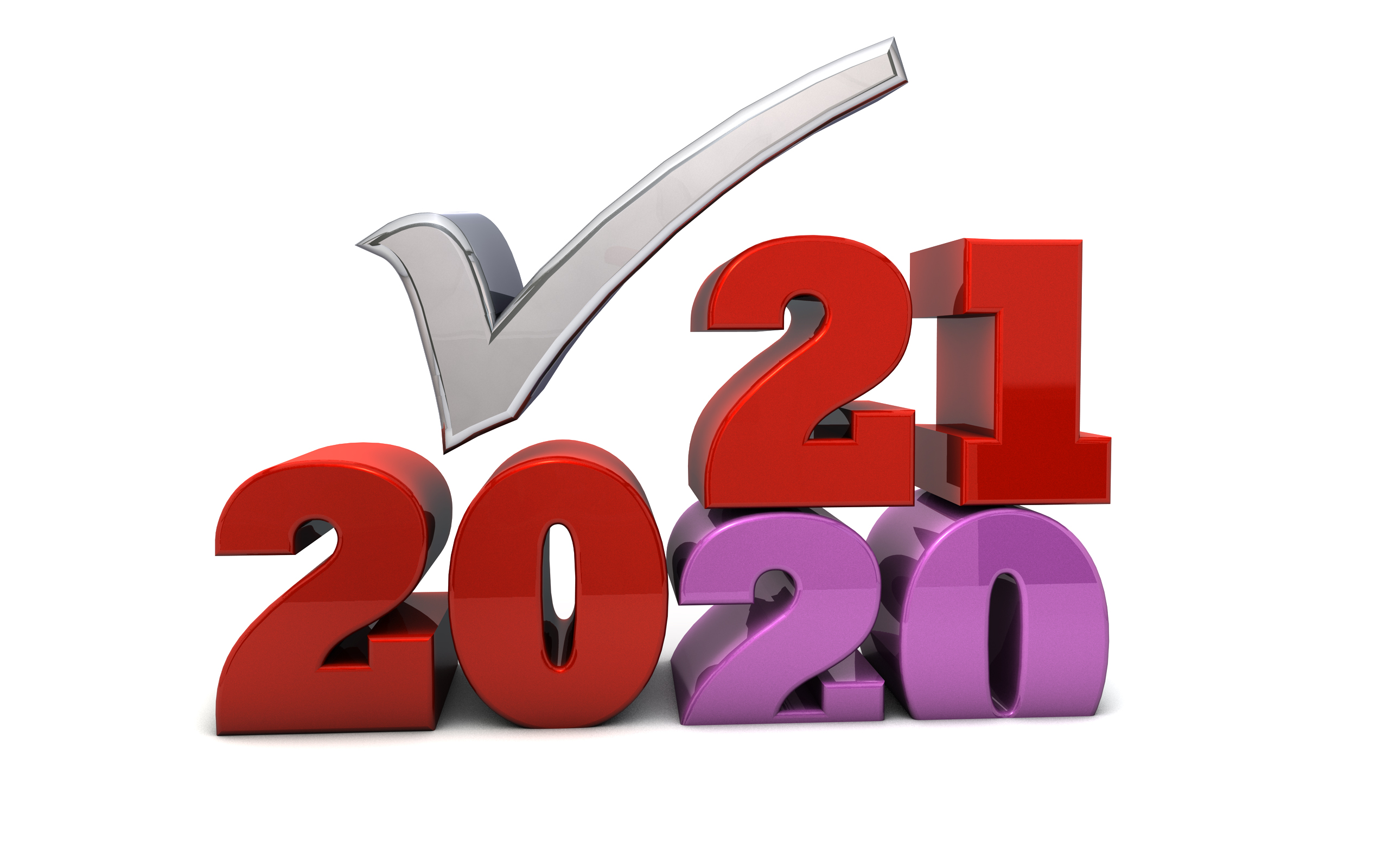 2020 into 2021 - Free Marketing Illustration