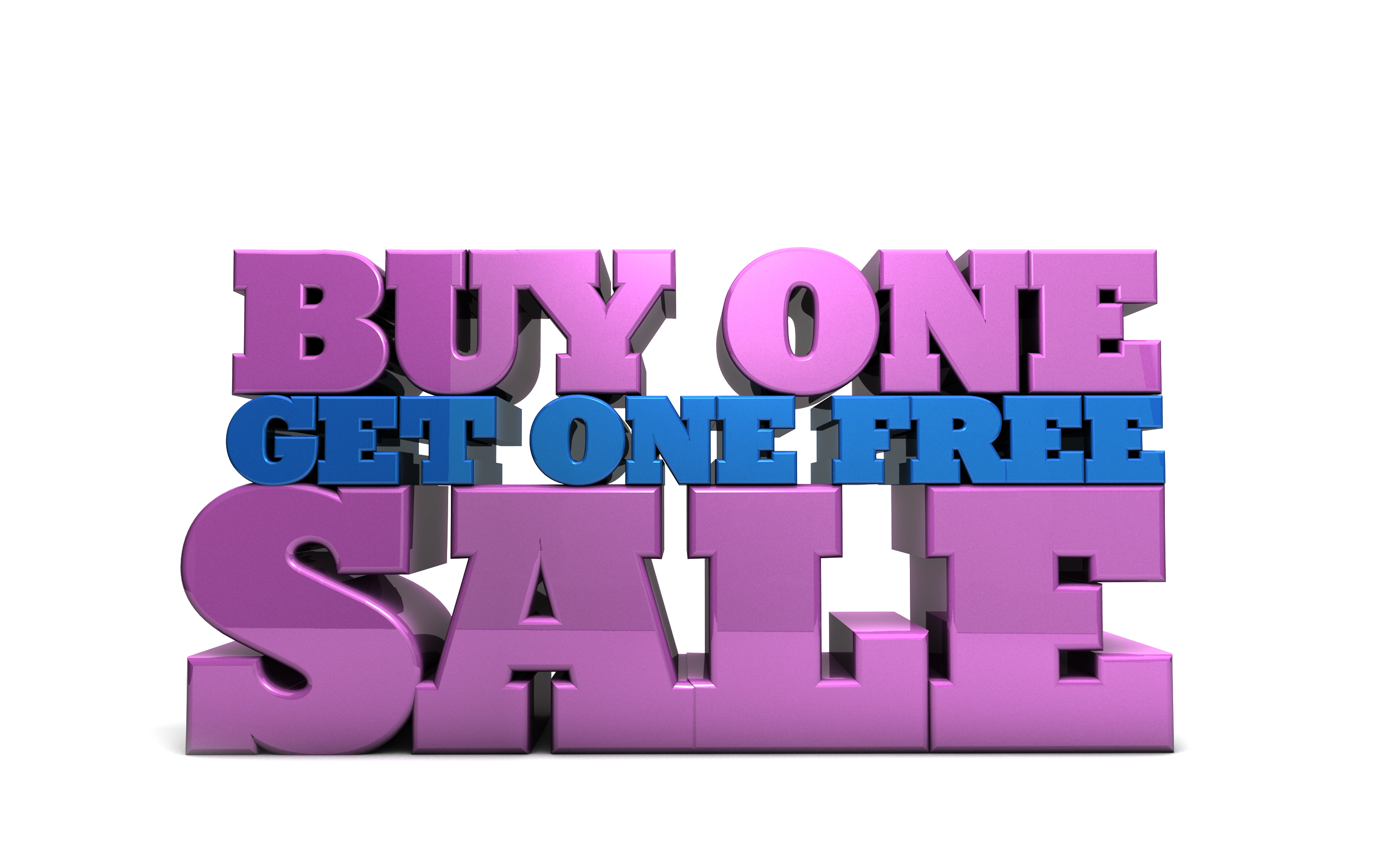 Buy one get one free - free marketing illustration
