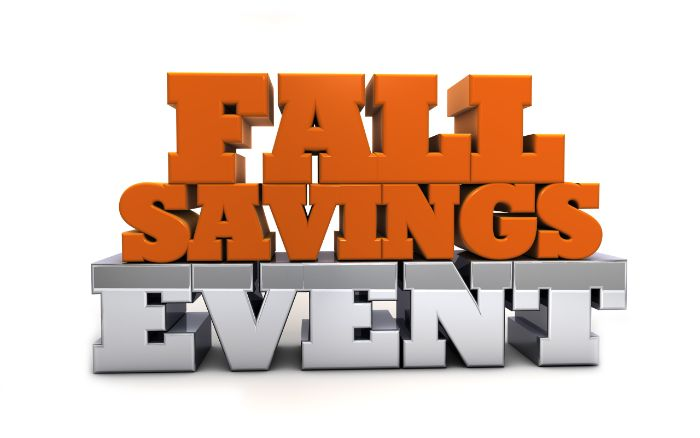 Free Stock Photo - Fall Savings Event